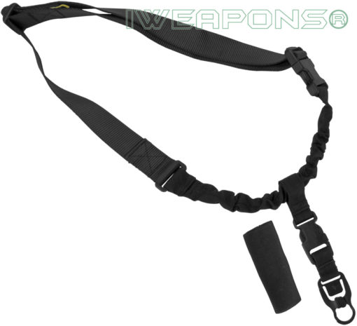 IWEAPONS® Operator Tactical QD 1-Point Bungee Rifle/Shotgun Gun Sling - Black