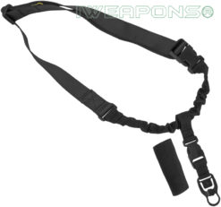 IWEAPONS® Operator Tactical QD 1-Point Bungee Rifle/Shotgun Gun Sling - Black