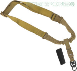 IWEAPONS® Operator Tactical QD 1-Point Bungee Rifle/Shotgun Gun Sling - Tan