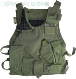 IWEAPONS® Israeli Army Green Military Vest with Holster