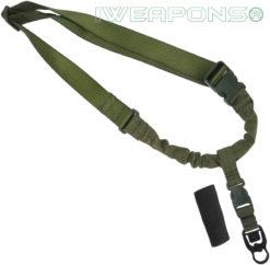 IWEAPONS® Operator Tactical QD 1-Point Bungee Rifle/Shotgun Gun Sling - Green