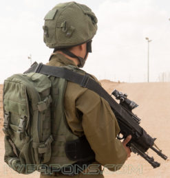 IDF Soldier with IWEAPONS® Black Two Point Heavy-Duty Rifle Sling