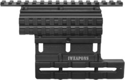 IWEAPONS® AK & Saiga Adjustable Dual Picatinny Rail Scope Side Mount