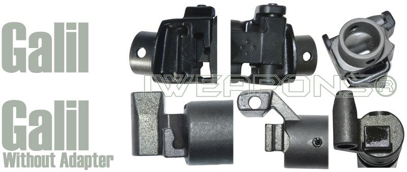 Iweapons 174 M4 Buffer Tube Folding Adapter For Micro Galil