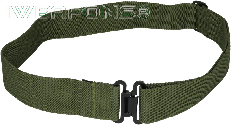 IWEAPONS® IDF Green Military Belt with Metal Buckle – IWEAPONS®
