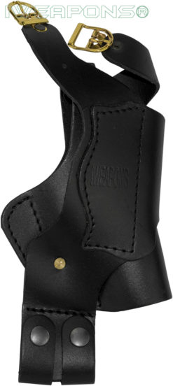 IWEAPONS® Leather Shoulder Holster with Double Mag Pouch
