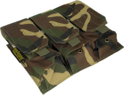 IWEAPONS® MOLLE Camouflage Triple Rifle Mag Pouch