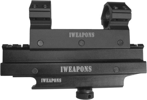 IWEAPONS® Picatinny Scope Mount with Riser on Carry Handle Mount