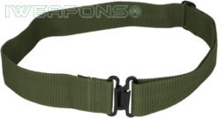 IWEAPONS® IDF Green Military Belt with Metal Buckle