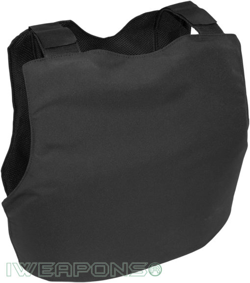 IWEAPONS® Civilian Covert Bulletproof Vest - Black - Back Views