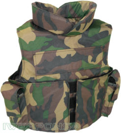 IWEAPONS® Delta Camo Bulletproof Vest IIIA with 2 Mag Pouches