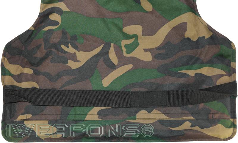 IWEAPONS® Delta Camo Bulletproof Vest Internal Belt
