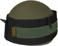 IWEAPONS® Black Elastic Commander Cover with Green Strap for Helmet