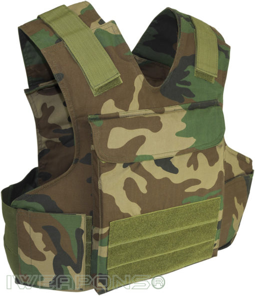 IWEAPONS® Raptor Camouflage Bulletproof Vest IIIA with Armored Plates