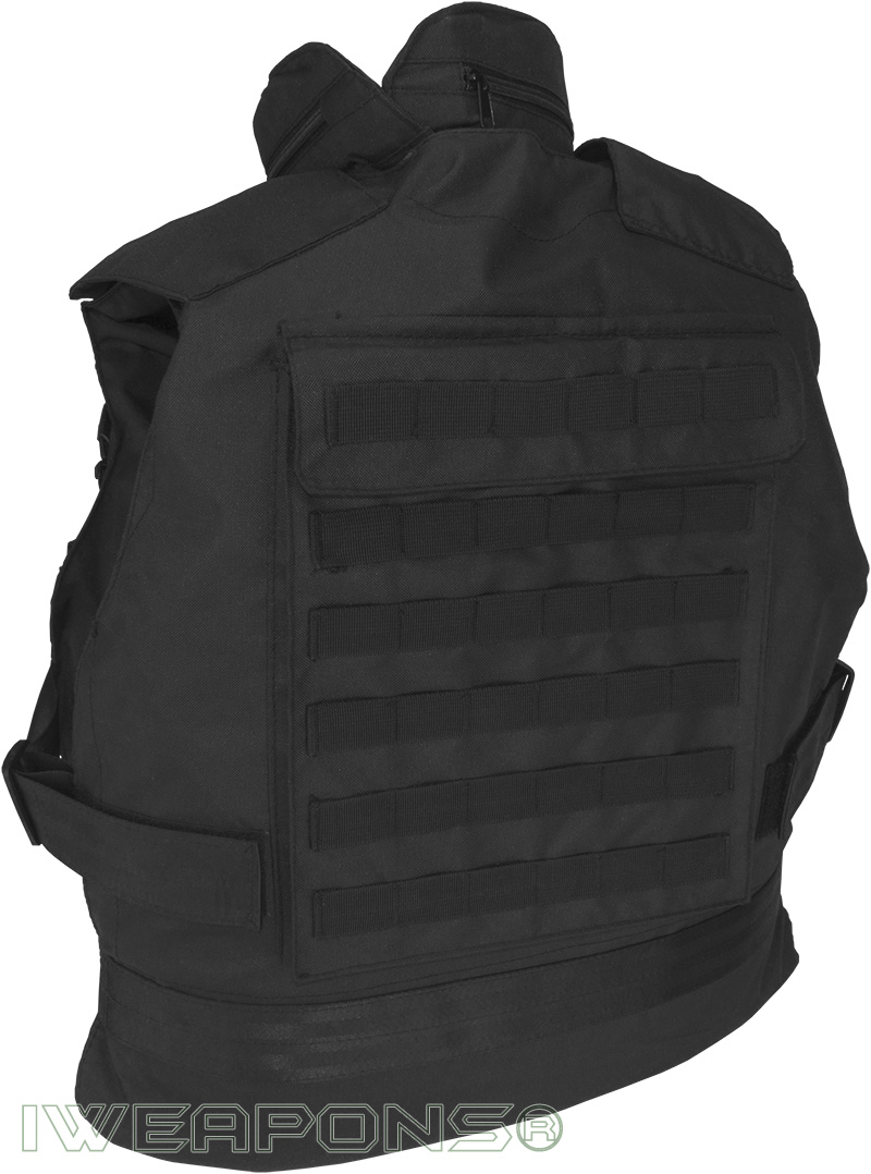 Iweapons 174 Swat Tactical Molle Bullet Proof Vest With Neck
