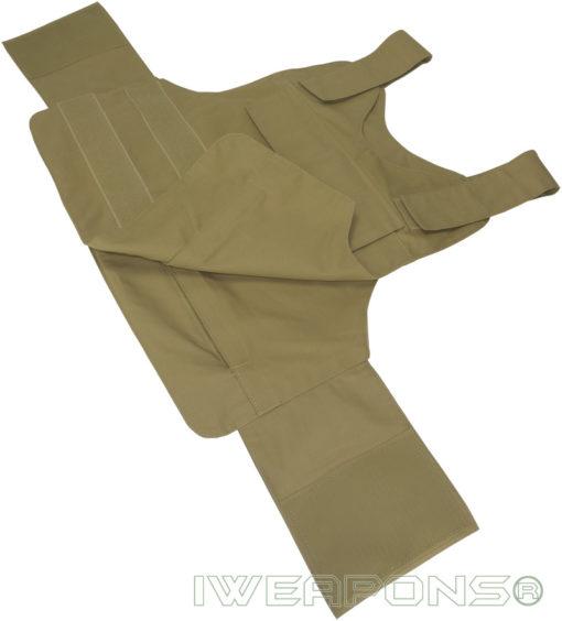IWEAPONS® Universal Tan Patrol Bullet Proof Vest IIIA