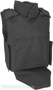 IWEAPONS® Counter Terrorism Bulletproof Vest 3A with Neck & Groin Protection