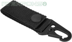 IWEAPONS® Heavy-Duty Metal Hook Attachment for 2inch / 5cm Belt – Black