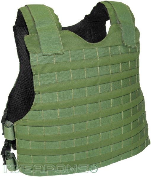 IWEAPONS® MOLLE Concealed Bulletproof Vest IIIA / 3A - Green