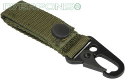 IWEAPONS® Heavy-Duty Metal Hook Attachment for 2inch / 5cm Belt – Green