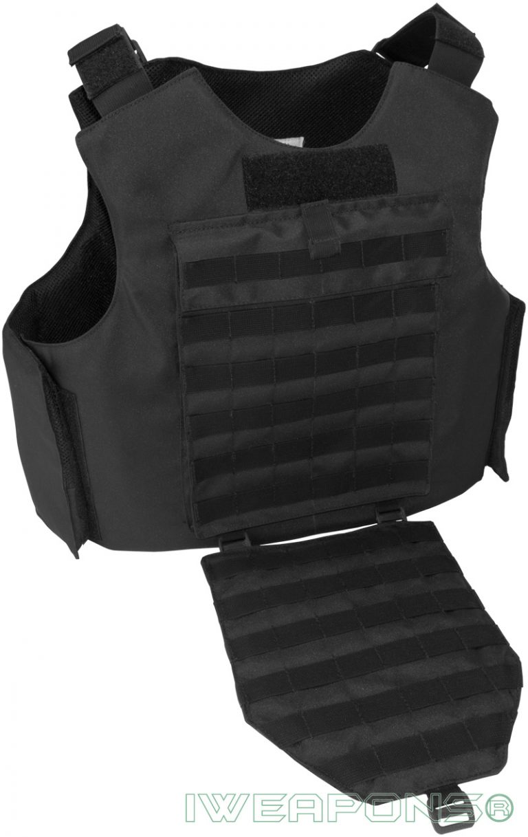 IWEAPONS® MOLLE External Bulletproof Vest IIIA / 3A with 25×30cm Pockets for Armor Plates and Groin Protection