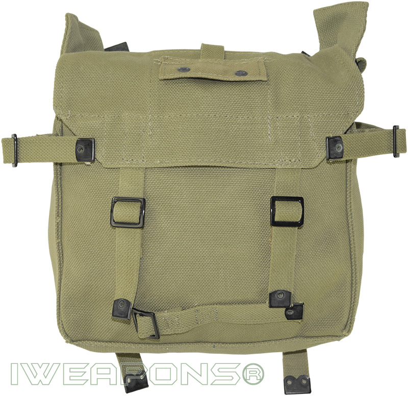 IWEAPONS® IDF Vintage-Style Cotton Canvas Infantry Backpack