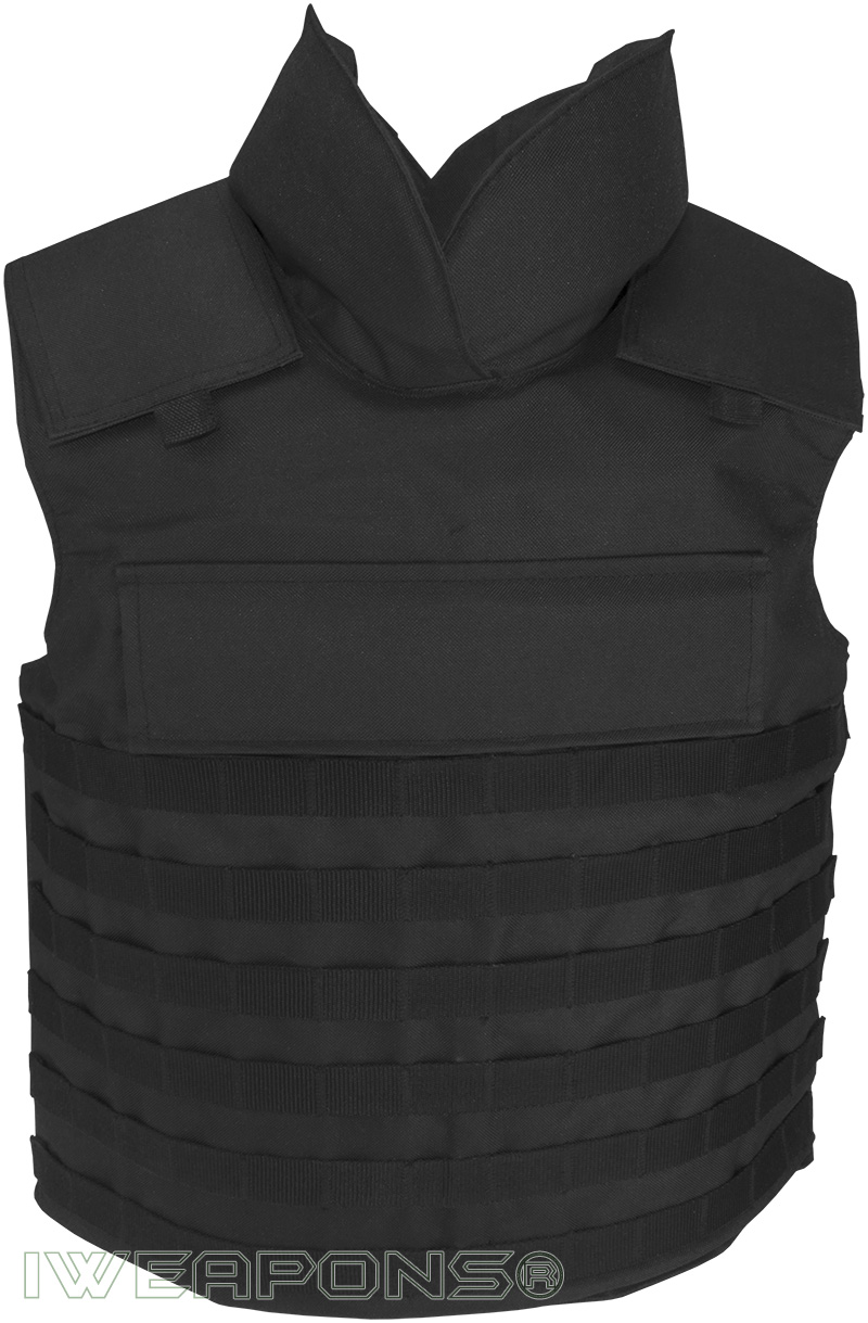 Iweapons 174 Molle Bulletproof Vest With Neck Protection And