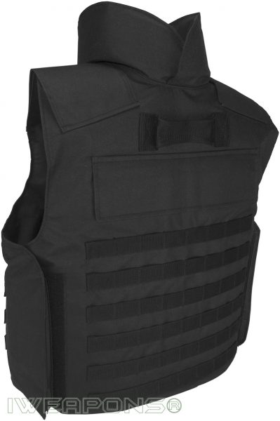 IWEAPONS® MOLLE Bulletproof Vest with Neck Protection and Body Armor Plate Pockets