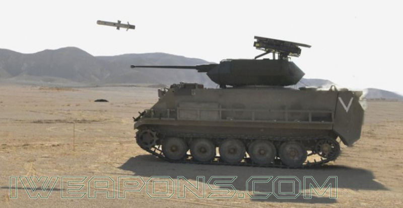 Rafael Samson Unmanned Weapon Station on M113 APC with Spike LR Missiles
